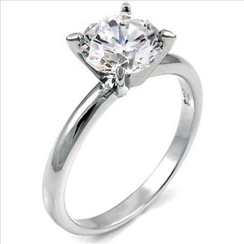 1.5ct cz Solitaire Engagement Ring Brilliant cut 925 Silver Cubic Zirconia (4)