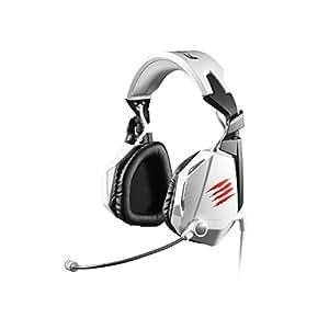 Mad Catz F.R.E.Q.7 Dolby 7.1 Surround-Sound-Gaming-Headset für PC, weiß glänzend (3,5mm Klinkenstecker, 2m USB-Kabel, inkl. Headsetständer)
