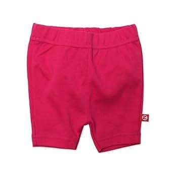 Zutano Baby-girls Infant Primary Solid Bike Shorts, Fuchsia, 6 Months