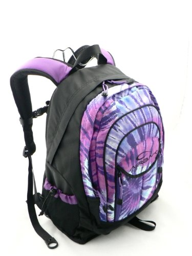 Airbak Groovy Purple Tie-dyed Laptop Backpack