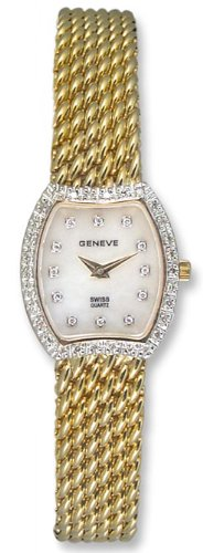 Geneve 14kt Solid Gold Diamond Womens Watch W1225B