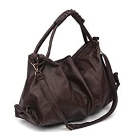 Maison De Decoration©Sac à main occasionnel d'épaule de messager d'emballage de cuir de modèle de femmes nouveau (brun)
