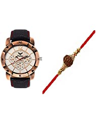Rakhi Gift For Brother, Analog Watch With Free Rakhi (Rakhi Design May Vary )-1 Year Warranty