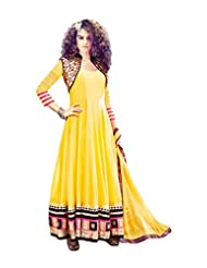 JINAAM MUAAK BY ARCHANA KOCHHAR YELLOW ANARKALI WITH MIRROR WORK