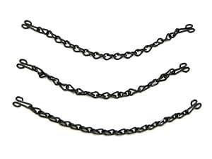 Prym Black Mild Steel Coat Hanging Chains (3pk)