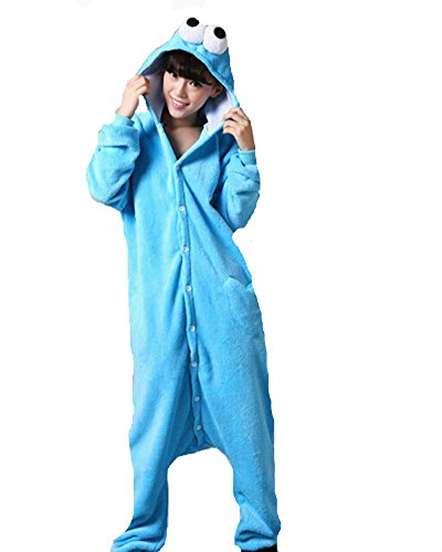Pajamas Anime Costume Adult Animal Onesie Sesame Street Cosplay Blue