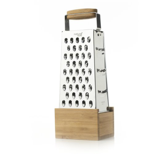 Natural Home Stainless Steel Grater With Box Catch