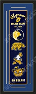 Heritage Banner Of California Golden Bears With Team Color Double Matting-Framed... by Art and More, Davenport, IA