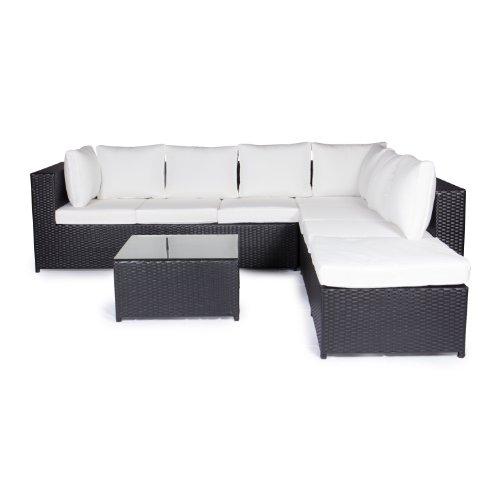 Vanage-Gartenmbel-Sets-XXXL-Gartengarnitur-Chill-und-Lounge-Set-Montreal-bereits-zusammengebaut-schwarz-wei