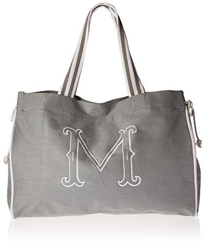 Mud Pie Gray Initial Tote Diaper Bag, M (M Mud Pie Bag compare prices)