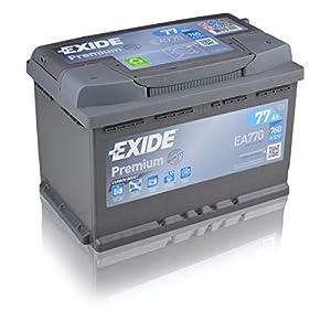 Exide Premium Carbon Boost EA770 77Ah Autobatterie (Neuestes Modell 2014/15) from Exide
