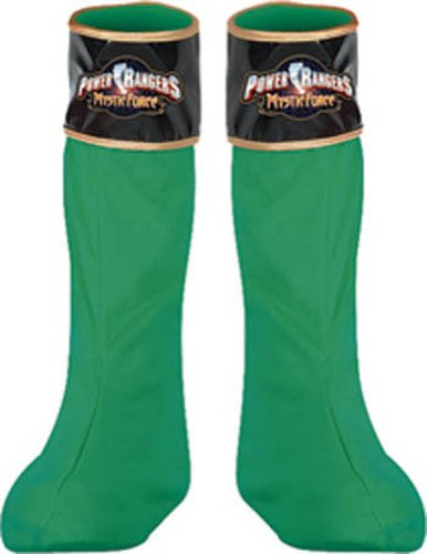 Costume-Footwear Power Ranger Green Boot Covers Halloween Costume