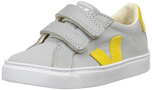Veja - Esplar Velcro, Scarpe da ginnastica Unisex - Bambini, Grigio (Grey (Oxford Grey/Gold/Yellow)), 30 EU