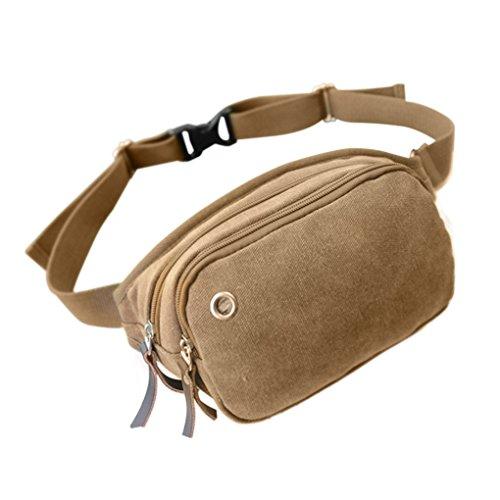 FakeFace Outdoor Fashion Unisex Leichte 3 Taschen Multicolor Reisen Leinwand Hüfttaschen