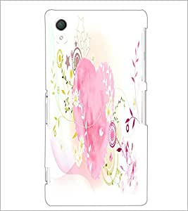PrintDhaba Heart D-2122 Back Case Cover for SONY XPERIA Z3 (Multi-Coloured)