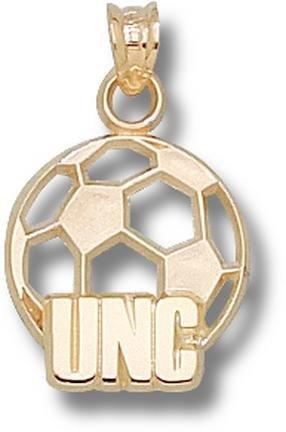 North Carolina Tar Heels UNC Soccer Ball Pendant - 14KT Gold Jewelry by Logo Art