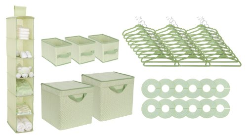 Delta 48 Piece Nursery Storage Set, Green (Discontinued by Manufacturer)