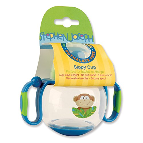 Stephen Joseph Sippy Cup, Monkey Blue/Green