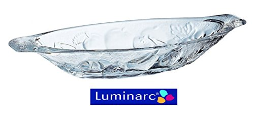 Luminarc Banana Split en relief Gourmande Plat en verre, Lot de 4ah2149(1193)