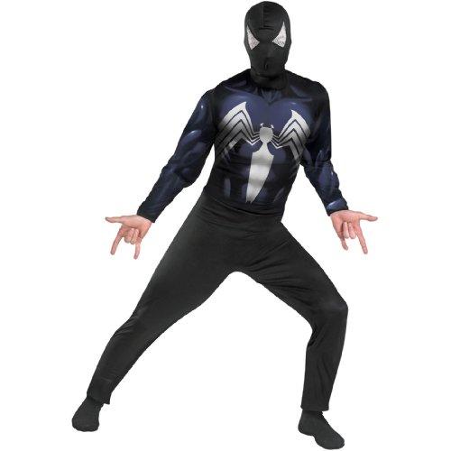 スパイダーマン ブラックスーツスパイダーマン マッスルチェスト 大人用コスプレ衣装♪ハロウィン♪サイズ:42-46
