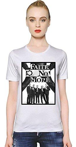 Faith No More Band T-shirt donna Women T-Shirt Girl Ladies Stylish Fashion Fit Custom Apparel By Genuine Fan Merchandise Small