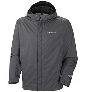 Columbia Men's Watertight II Packable Rain Jacket, Graphite, Medium