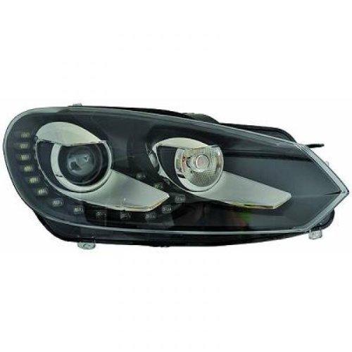 phare bi-xenon D GOLF 6 08->> Berline, Break, Cabrio HELLA, D1S, avec correct. phare feux diurnes LED avec phare direct.