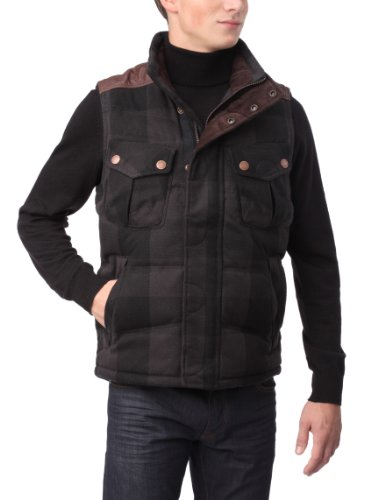 Timberland Thermotech Fabric Rugged Plaid Men's Jacket Charcoal Heather Small