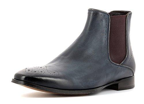 Gordon & Bros Herrenschuhe Alberto 623042 Klassischer rahmengenähter Stiefel und Chelsea Boot für Anzug, Business und Freizeit blau (Navy/Bordo), EU 46
