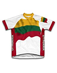 Lithuania Flag Short Sleeve Cycling Jersey for Women
