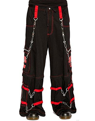 Tripp Men's Electro Rave Techno Cyber Goth Skull Pants (3XL)
