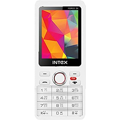 Intex Force ZX With Wireless FM (Dual Sim) (White)