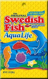 Gummy candies swedish fish aqua life Grape swedish fish