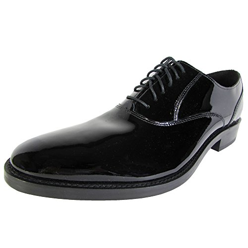 Cole Haan Men Madison Plain Oxford II Patent Leather Shoe, Black Patent, US 8.5 (Cole Haan Mens Shoes Patent compare prices)