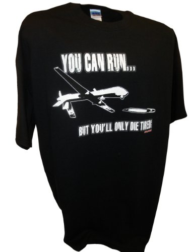 Mens-You-Can-Run-Predator-Drone-Missle-Bomber-War-Tee-By-Achtung-T-Shirt-LLC