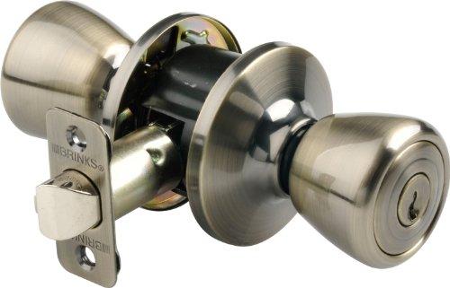 Brinks  2101-109 Tulip-Style Keyed Entry Door Knob, Antique Brass (Door Knob That Locks compare prices)