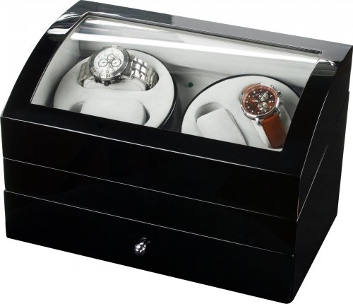 Auer Accessories Artemis 722B Watch Winder For 4 Watches Piano polish