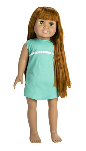 Springfield Collection by Fibre-Craft - Olivia with Red Hair and Green Eyes Poseable 18-Inch Doll - Pre-Stuffed Body and Plastic Head and Limbs - Featuring Sleeping Eyes and Brushable Hair - Compatible with All 18-Inch Doll Clothing and Accessories (Red Hair Doll compare prices)