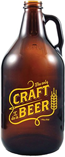 Craft Beer - Amber Glass Beer Growler, 64 oz - By 30 Watt (Cool Beer Growler compare prices)