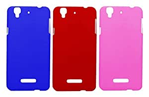 3 Pieces Winsome Deal Exclusive Hard Back Cover Case For Micromax Yureka