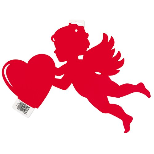 "16.5"" Paper Cut Out Cupid Decoration"