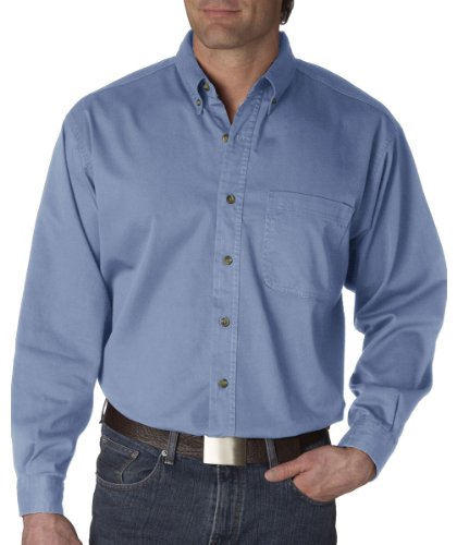 8960 UltraClub Men's Cypress Denim with Pocket (Light Blue) (XL) (Jeans Blue Light For Men compare prices)