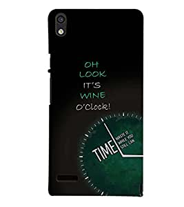 PRINTSWAG CLOCK Designer Back Cover Case for HUAWEI ACEND P6