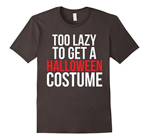 [Men's Too Lazy To Get A Halloween Costume T-Shirt  2XL Asphalt] (Nerd Halloween Costumes Guy)