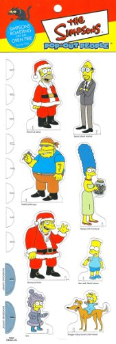 SIMPSONS ROASTING ON AN OPEN FIRE * Episode 7G08 * The Simpsons POP-OUT PEOPLE Characters & Background Set from Dark Horse Comics