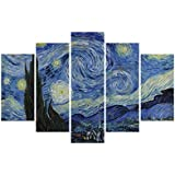 Artezy -Modern 5 Panels Stretched And Framed Canvas Prints On Canvas Wall Art Work Morden Painting Landscape Pictures...