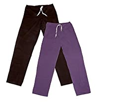 IndiWeaves Women Super Combo Pack 4 (Pack of 2 Lower/Track Pant and 2 T-Shirt)_Brown::Brown::Purple::Red::Blue_XXL
