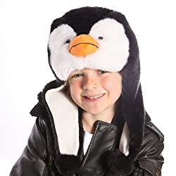 Children's Novelty Fleece Lined Faux Fur animal Hat.