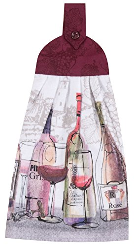 Kay Dee Designs R3189 Choice Wine Tie Towel (Tie On Dish Towels compare prices)