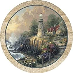 The Light of Peace by Thomas Kinkade Sandstone Thirstystone Coasters
